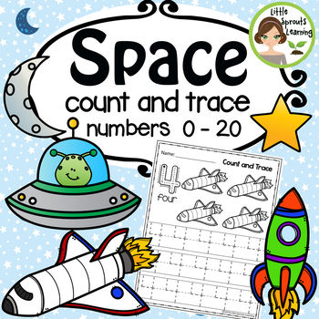 Space Math Count and Trace 1-20