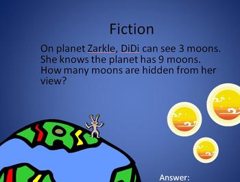 Space Math Fact and Fiction First Grade