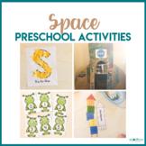 Space Preschool Theme - Math, Literacy, STEM, and Art Centers
