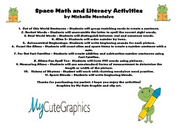 Space Math & Literacy Unit