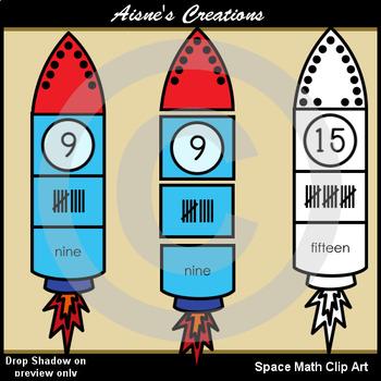 Space Math Set Clip Art