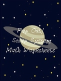 Far Out! Space Math Worksheets