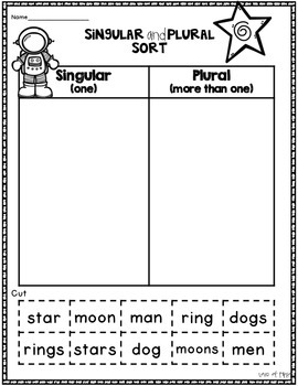 Space Math and Literacy No Prep First Grade Pack