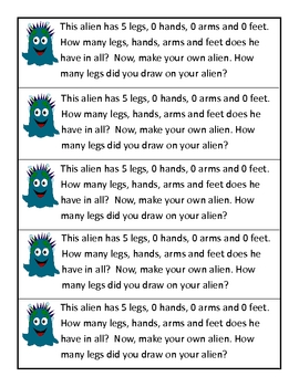 Math Journal Prompts in Outer Space (kindergarten)