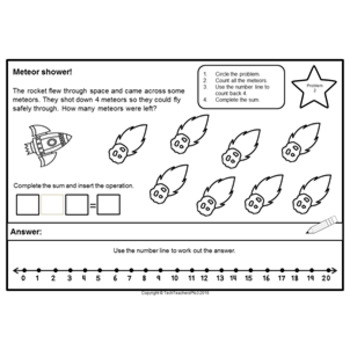 Space Maths Problem Solving Find Pattern Make a Table Part Part Whole Worksheets