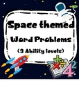 Space Maths Word Problems - 3 Levels