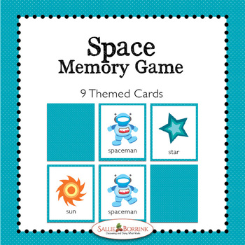 Space Memory Game - Space Theme Activity