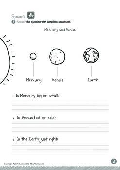 Space - Mercury and Venus (I): Blends GL, GR - Kindergarten, K3 (5 years old)