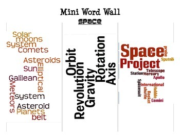 Space Mini Word Walls