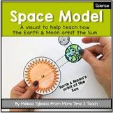 Space: Model of Earth & Moon's orbit