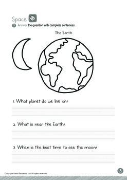 Space - Moon (I): Blends FL, FR - Kindergarten, K3 (5 years old)