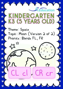 Space - Moon (II): Blends FL, FR - Kindergarten, K3 (5 years old)