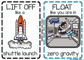 Space Movement Cards (Transition Activity or Brain Breaks)