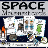 Space Movement Cards and Brain Breaks  (Transition activity)
