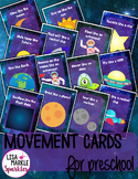 Space Movement Cards for Preschool and Brain Break