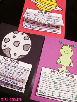 Space Writing Craft Activities NO PREP Solar System Fun