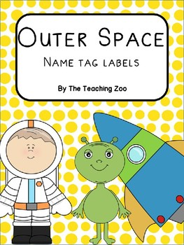 Space Name Tag Labels