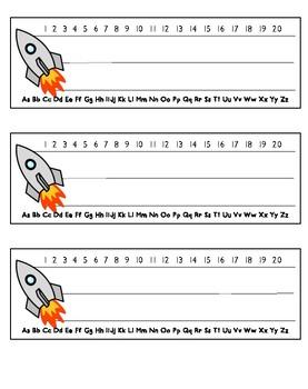 Space Name Tag Printable