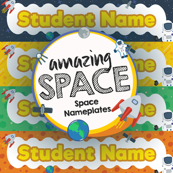 Space Theme Nameplates - Amazing Space