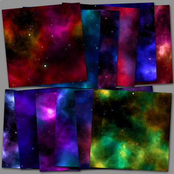 Space Nebulas & Stars, Vol 1 (Digital Paper/Background Images)