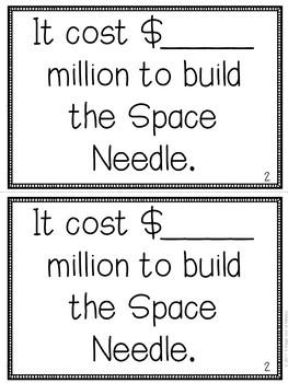 Space Needle Mini-Books (U.S. Landmarks)