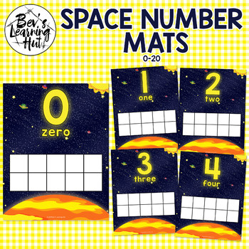 Space Number Mats for counting 0-20