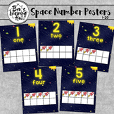 Space Number Posters with ten frames [1-20]