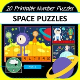 Space Number Puzzles 1-10 Times Tables Skip Counting