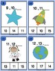 Space Number Sequence Clothespin and Task Cards