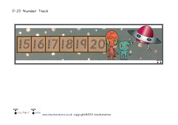 Space Number Track to 20