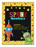 Space Numbers- Add and Subtract 10 from 2 digit numbers