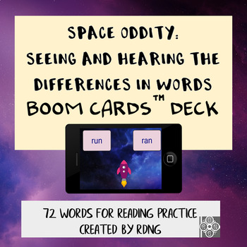 Space Oddity: Seeing and Hearing Differences in words   Boom Cards Deck