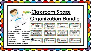 Space Organization Resources BUNDLE!Everything you need you need to set a class