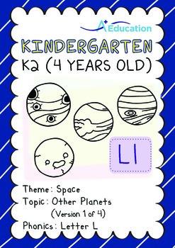 Space - Other Planets (I): Letter L - Kindergarten, K2 (4