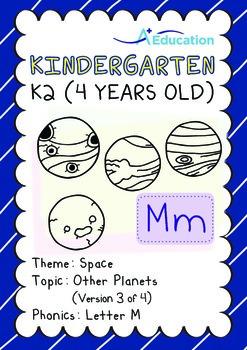 Space - Other Planets (III): Letter M - Kindergarten, K2 (