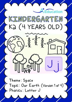 Space - Our Earth (I): Letter J - Kindergarten, K2 (4 years old)