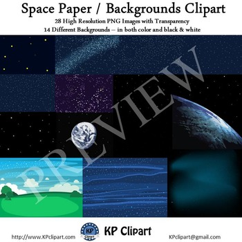 Space Paper and Backgrounds Clipart