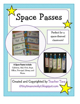 Space Passes-Perfect for the Space-Themed Classroom!