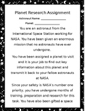 Space Planet Astronaut Assignment