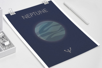 Space Planet Posters - Vintage Retro Style PLUS Clipart graphics!