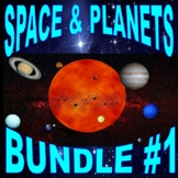 SPACE & PLANETS Bundle Package #1 (11+ Assignments & More) - No Prep! Sub Plans!