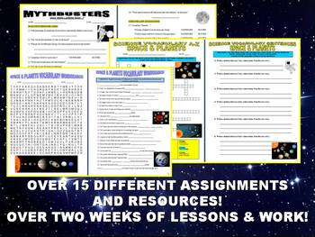SPACE & PLANETS Bundle Package #2 (15+ Assignments)