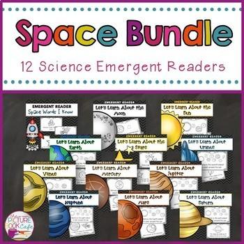 Space/Planets Emergent Reader Bundle