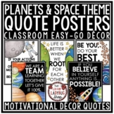 Planets & Space Theme Back to School Bulletin Board, Motivational Quotes Posters