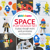 Space Play Dough Mats and Accessories