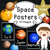 Space Posters - QBeginners (QLD), NSW/ACT or USA Font - Wa