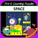 Space Pre-K Counting Puzzles - Outer Space Number Puzzles 1-10 + Missing Numbers
