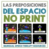 Space Prepositions in Spanish - No Print