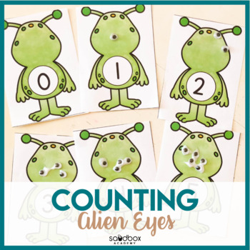 Space Preschool Activity - Counting Alien Eyes