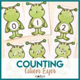 Space Preschool Activity - Counting Alien Eyes